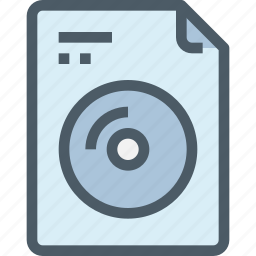 cd, disk, document, file, paper icon