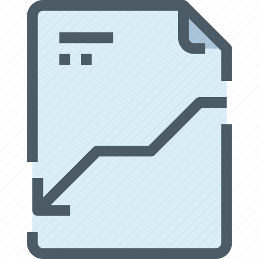 arrow, document, down, file, paper icon