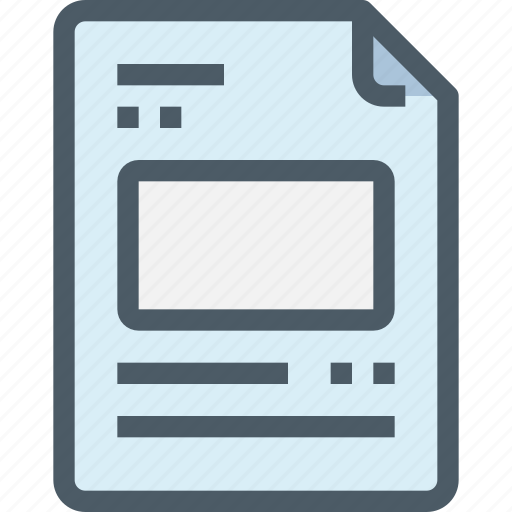 content, document, file, layout, paper icon