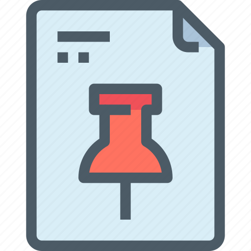 Business, document, file, paper, pin icon - Download on Iconfinder