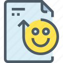 document, face, file, happy, paper, rating icon