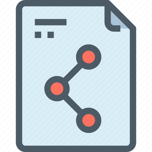 document, file, media, network, share, sharing, social icon
