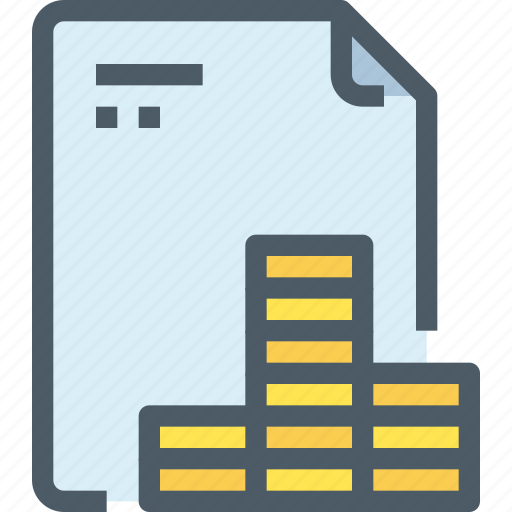 bank, banking, document, file, finance, financial, paper icon