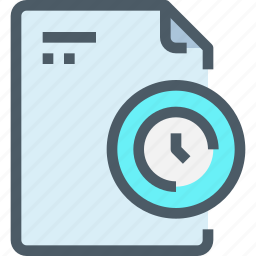 document, file, management, paper, time, timer icon