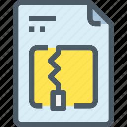 document, file, paper, zip icon