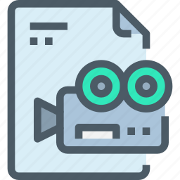 document, file, media, paper, production, video icon