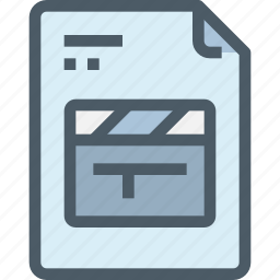 document, file, media, movie, paper, production, video icon