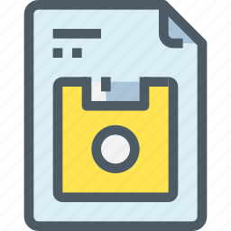 disk, document, file, office, paper, save icon