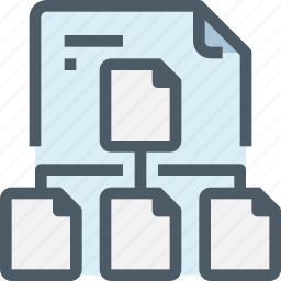 connect, document, file, network, paper, share icon