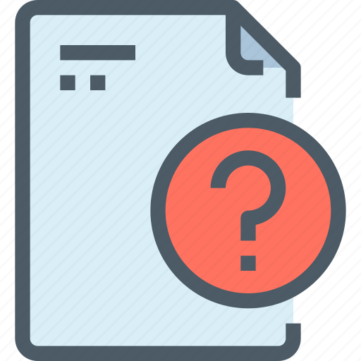 document, file, paper, question icon