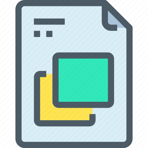 art, design, document, file, paper, shape icon