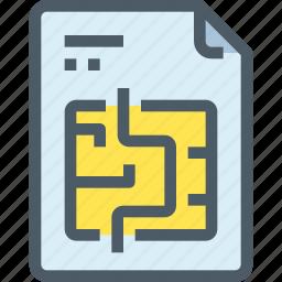 document, file, paper, puzzle, question icon