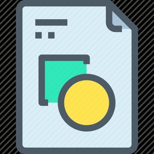 art, design, document, file, graphic, paper, shape icon