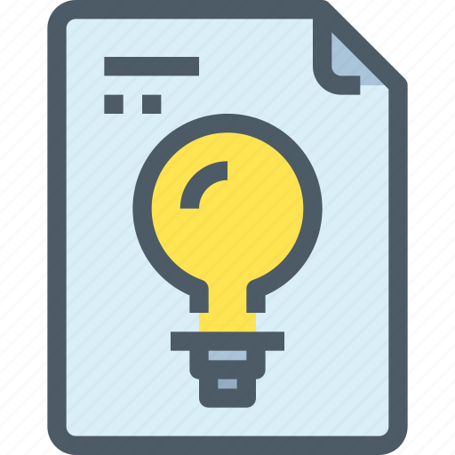 document, file, idea, paper, think, thinking icon
