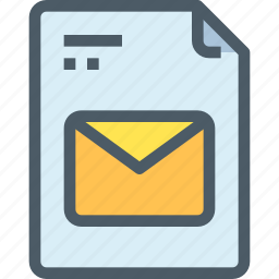 communication, document, email, file, letter, mail, paper icon