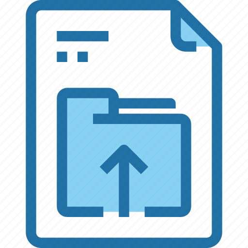 aroow, document, file, paper, upload icon
