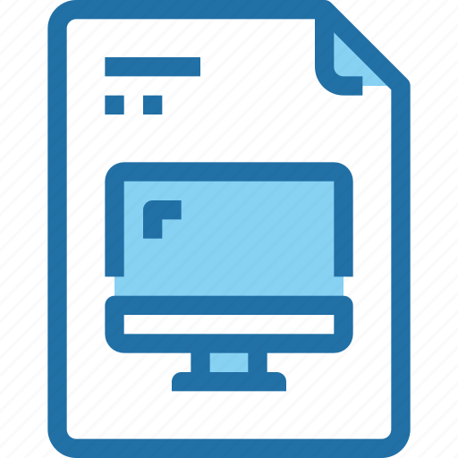 computer digital document file online paper icon