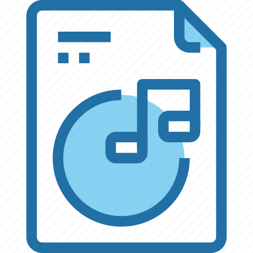 document, file, media, music, paper, song icon