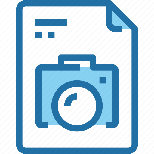 camera, document, file, image, media, paper, technology icon