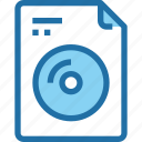 cd, document, file, media, movie, music, paper icon