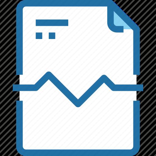 document, file, graph, paper, report icon