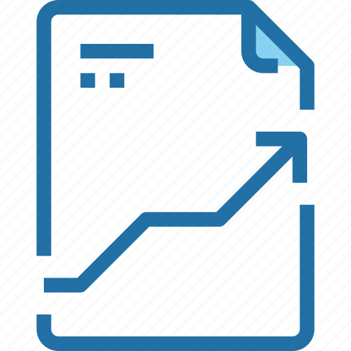 arrow, document, file, paper icon