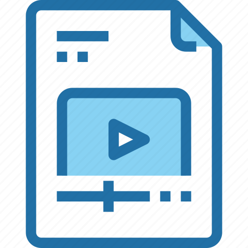 document, file, media, movie, paper, video icon