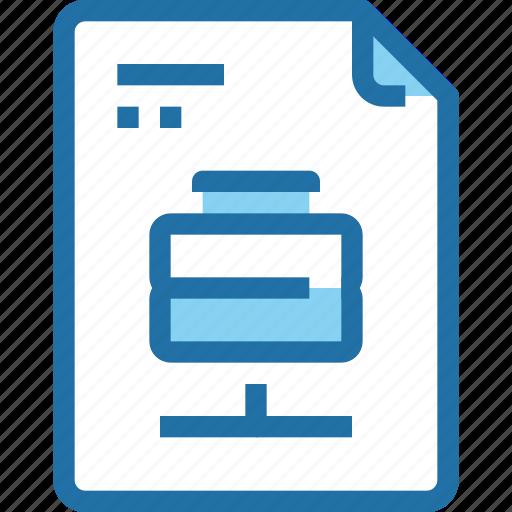 data, database, document, file, paper, server icon