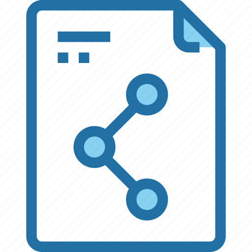 document, file, paper, share, sharing, social media icon