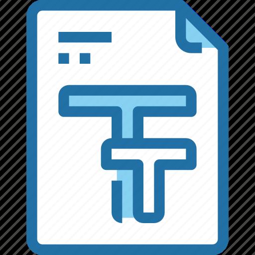 document, edit, file, font, paper, text icon