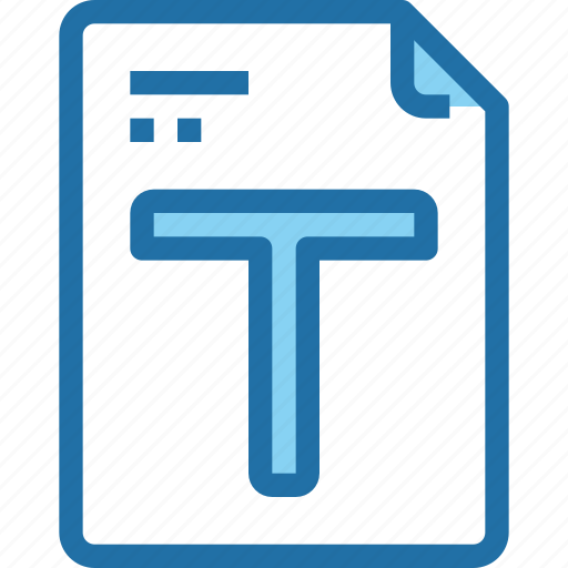 document, file, font, paper, text icon