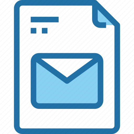 document, email, file, letter, mail, paper icon