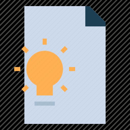 document, file, idea, invention, project icon