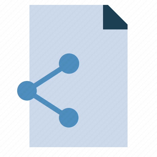 document, network, share, sharing, transfer icon