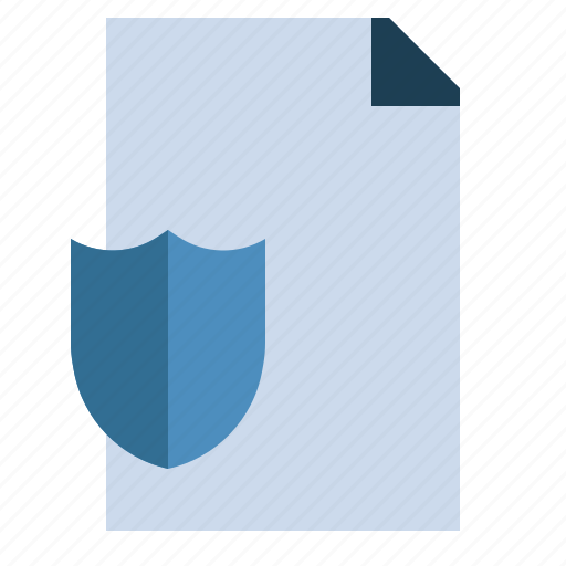 antivirus, file, insurance, protection, security, shield icon