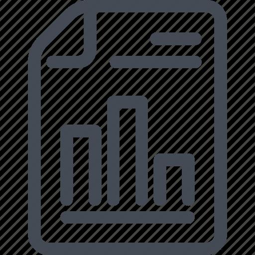 doc, document, file, report, statistics, stats icon