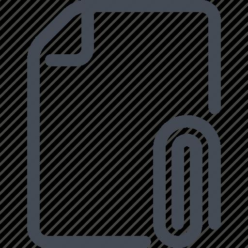 attach, attachment, clip, doc, document, file icon