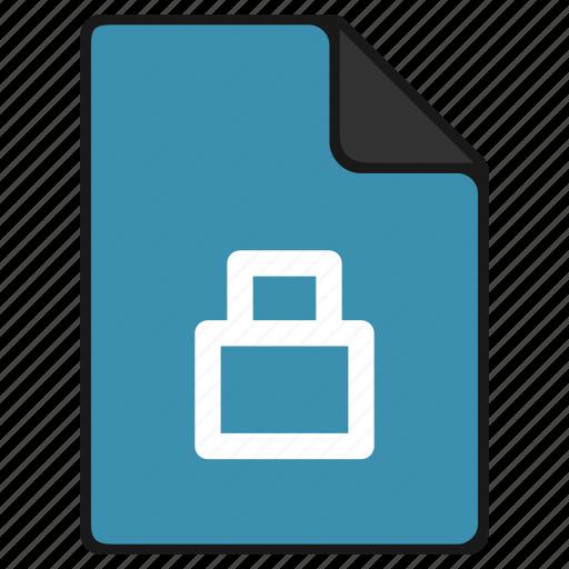 documents, file, lock, password, securety icon