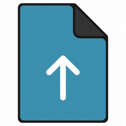arrow, documents, extension, file, up, upload icon