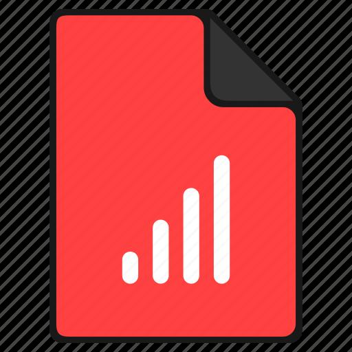 chart, diagram, documents, file, graph, report icon