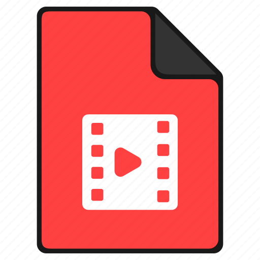 documents, file, film, media, movie video, player icon