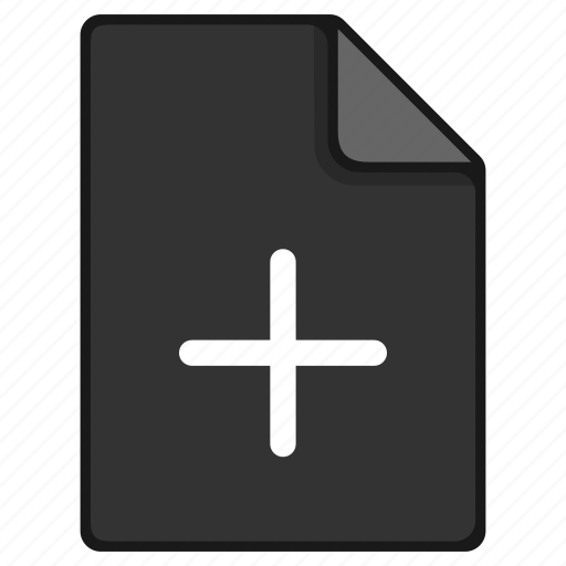 add, addition, append, documents, file, new icon