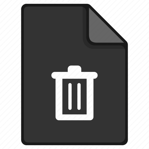 delete, documents, file, format, paper, remove icon