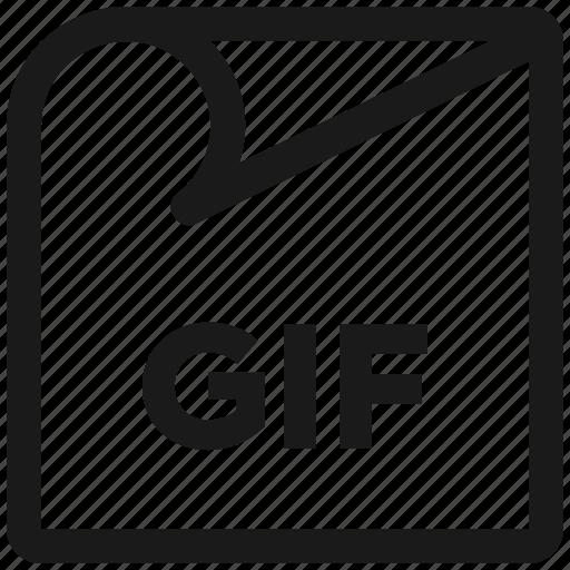 animation, file ekstension, files, gif, line, monoline icon
