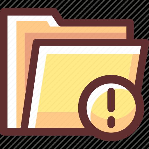 alert, data, file, folder, problem, trouble, warning icon