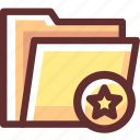 favorite, folder, heart, rating, star icon