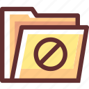 alert, caution, error, folder, warning icon