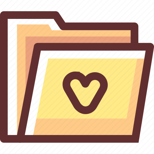 data, favorites, folder, love, love folder icon