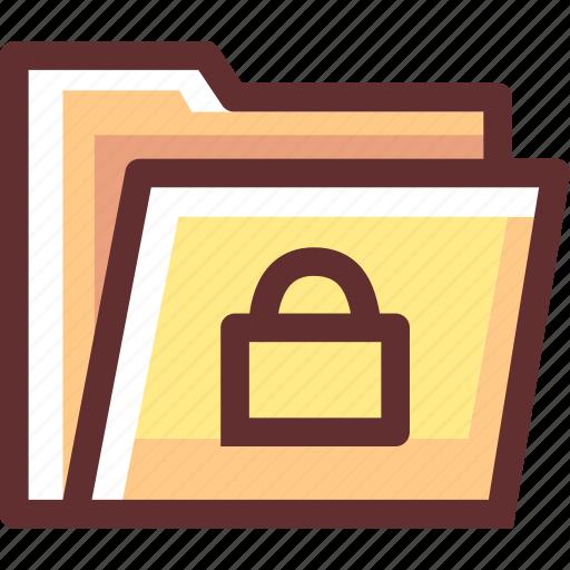 document, folder, key, log, login, protect, security icon
