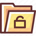 folder, login, secure, security icon